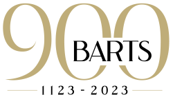 Barts 900 logo – gold with dates